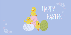 Happy Easter | Creative design carrying eggs and chickens