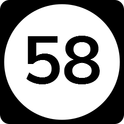 Two-digit state route shield | Two colored road sign