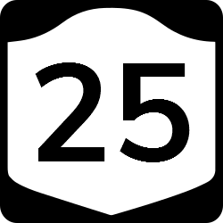 New York Two-digit state route shield