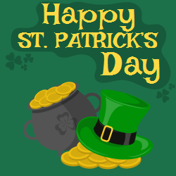 Happy St. Patrick's cap template | State Holidays