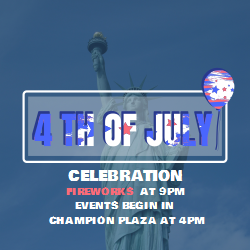 4th of July Event Poster | Changeable Texts