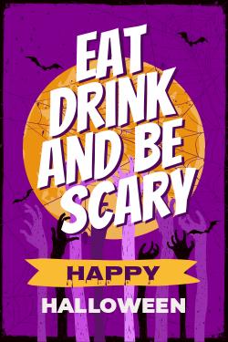 Designer Made Halloween signage template