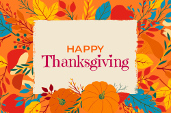 Happy Thanksgiving signage template