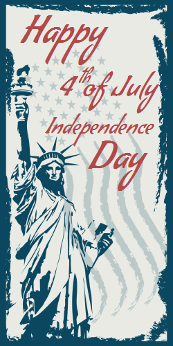 4th of July Poster | Statue of Liberty