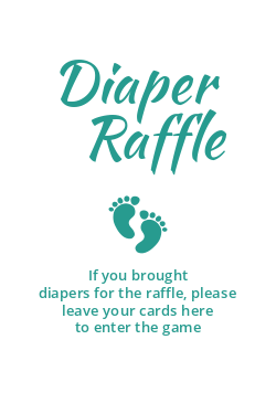 Diaper raffle template
