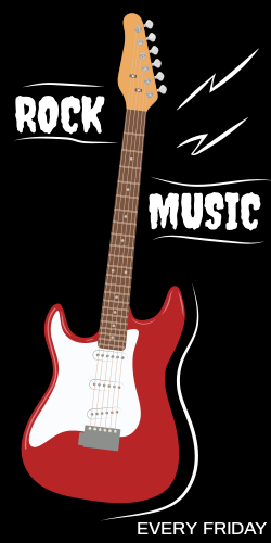 Rock music every Friday | Red guitar