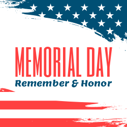 Ready template for Memorial Day signs