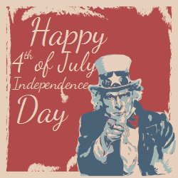Uncle Sam Patriotic Template | Happy 4th of July
