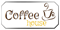 Elegant logo for a Welcome sign for Coffee House