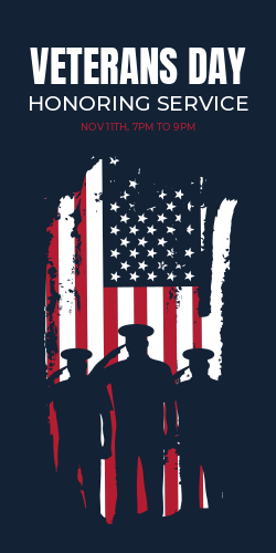 Customizable Veterans Day sign template
