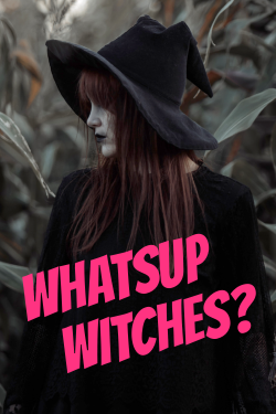 Whatsup witches? Halloween template