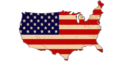 Flag map of UNited State | US Country map