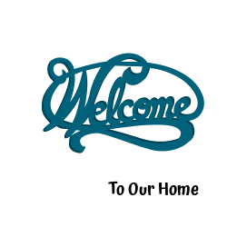 Welcome to our home | blue home logo
