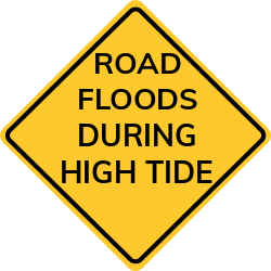 Road flooding signs | Warns about areas affected by floods