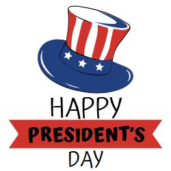 President's day | US flag on white background