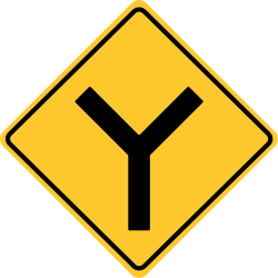 Y Road sign | Means, that a divided road is about to begin.