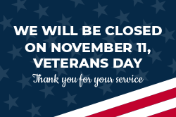 Veterans Day closed sign template