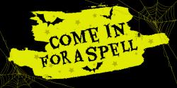 Halloween invitation sign template
