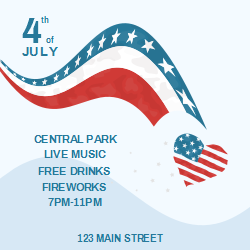 4th Of July Event Poster Changeable Template