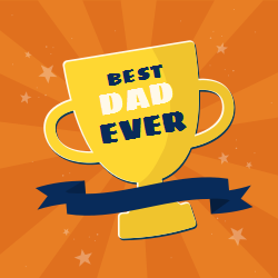 Best dad ever trophy template