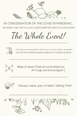 Wedding COVID 19 safety sign template