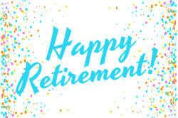 Retirement party sign template