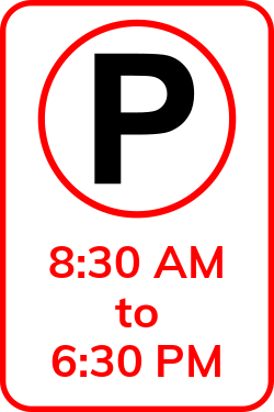 Parking timetable | Special area for parking