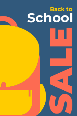 Back to school promotional sign template