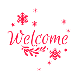 Christmas welcome sign template