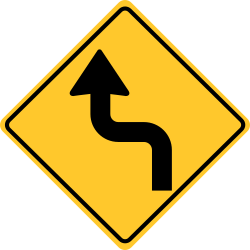 Reverse Turn Left sign | Right sign | First turn to the left