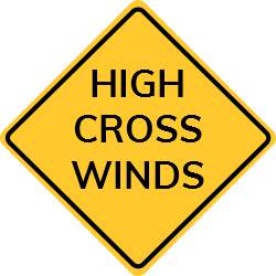 Crosswind is a strong wind that blows in the direction that vehicles, boats, or aircraft are travelling. We offer ready-made templates to use in certain areas to keep people far from eunice conditions.