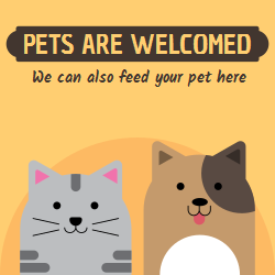 Use this template to decorate the windows, walls of your pet shop. Inform your prospects about your services beforehand, so when in need - they turn to you for assistance.