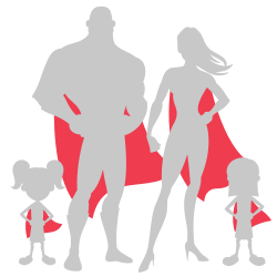 Family of heroes car decal template