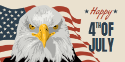 Eagle with The US Flag Background | Patriotic Poster