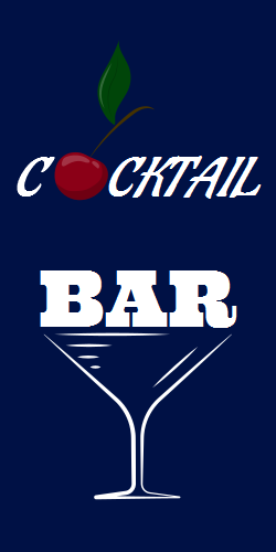 Cocktail Bar template with cherry accent