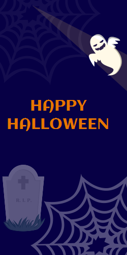 Halloween On Dark Background