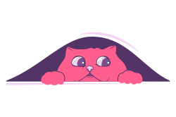 Cute template with a cat