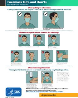 CDC COVID 19 template with face mask do's and don'ts