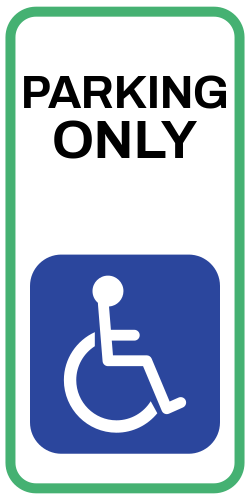 Handicap Parking only OSHA Sign template