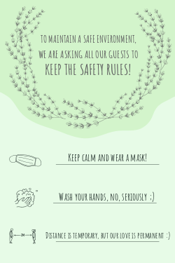 Wedding safety sign template for COVID 19