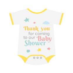 Baby shower thank you template