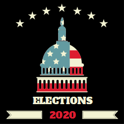 Elections 2020 | Stars above US Capitol building