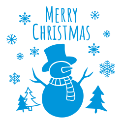 Snowman template for Christmas signs