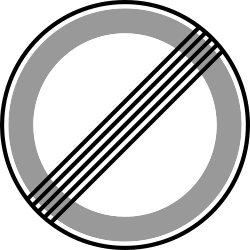 Speed limit sign in grey circle on white background