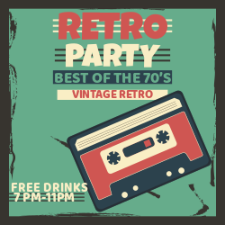 Vintage retro party | Best of 70's music party!