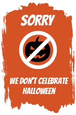 Informative Halloween sign template