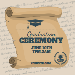 Creative graduation ceremony template