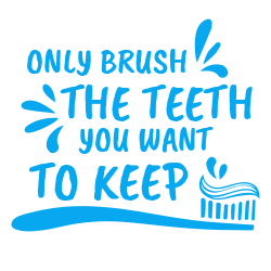 Funny template about brushing teeth