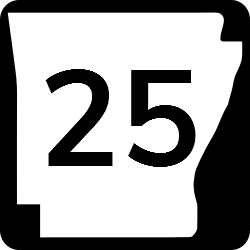 Arkansas Two Digit state route shield sign