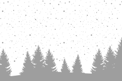 Winter forest template